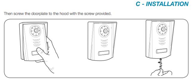 Doorphone installation